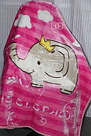 Детское велюровое покрывало Fashion 110х140 см., слоники