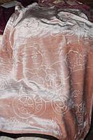 Детское велюровое покрывало Fashion 110х140 см., бежевое