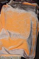 Дитяче велюрове покривало Fashion 110х140 див., персикове