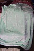 Дитяче велюрове покривало Fashion 110х140 див., м'ятна