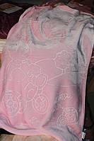 Дитяче велюрове покривало Fashion 110х140 див., рожеве