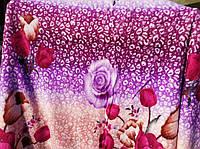 Полуторное махровое покрывало Koloco - Цветы
