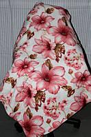 Полуторное махровое покрывало KOLOCO - Розовые цветы