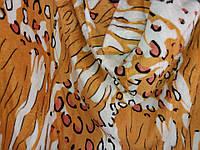 Полуторное махровое покрывало Fashion леопард