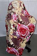Полуторное махровое покрывало KOLOCO розы