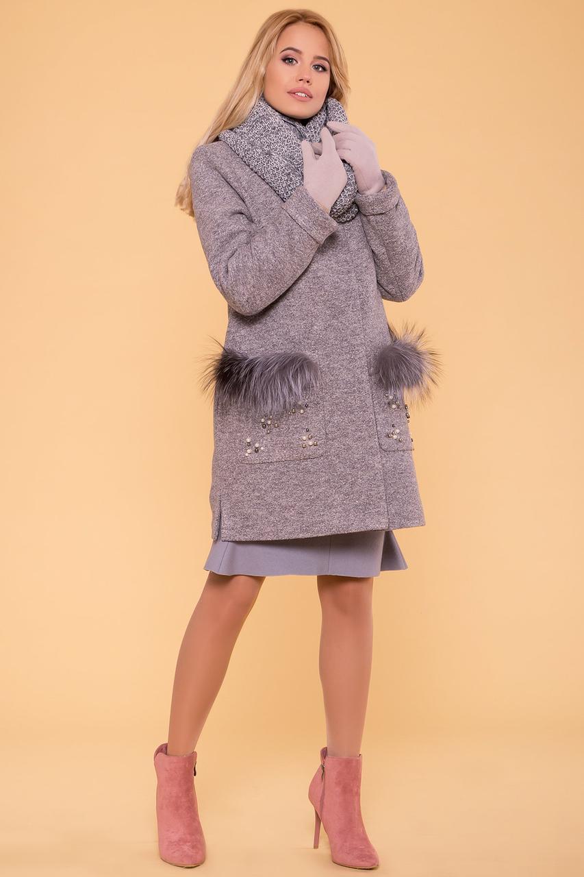 Пальто женское зимнее  Ажен 5956