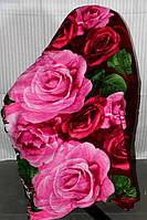 Полуторное махровое покрывало KOLOCO - Розовые розы