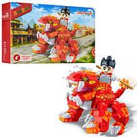 Конструктор BANBAO 6610  Китайский дракон,  фигурка воина,  158дет,  в кор-ке,  23-15-5см
