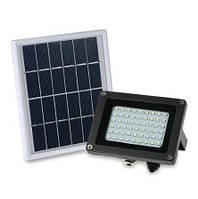 LED светильник 15Вт с солнечной панелью 3Вт, аккумулятор 4400мAч, фото 1