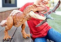 Динозавр Тираннозавр Рекс 56 см со звуком. Jurassic World Thrash 'n Throw Tyrannosaurus Rex Figure