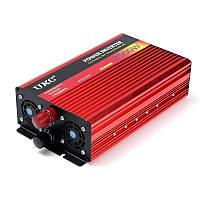 Инвертор автомобильный преобразователь напряжения с плавным пуском UKC с 12 в 220V на 2000 Вт (+USB выход)