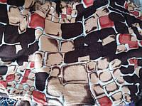 Двуспальное махровое покрывало KOLOCO камни