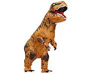 Надувной костюм Динозавра для детских праздников T-Rex 150 - 190 см Оранжевый