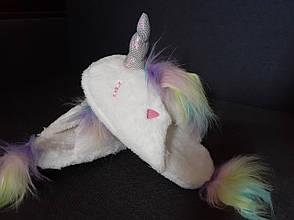 Тапочки Кигуруми Единорог белый с радужным хвостом M (Размер 35-39)