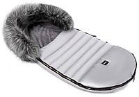 Зимний конверт Bair Polar premium  серый - серебро кожа, фото 1
