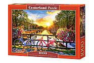 """Пазли Castorland 1000 елементів """"Амстердам. Велосипедна прогулянка"""" (C-104536), фото 2"""