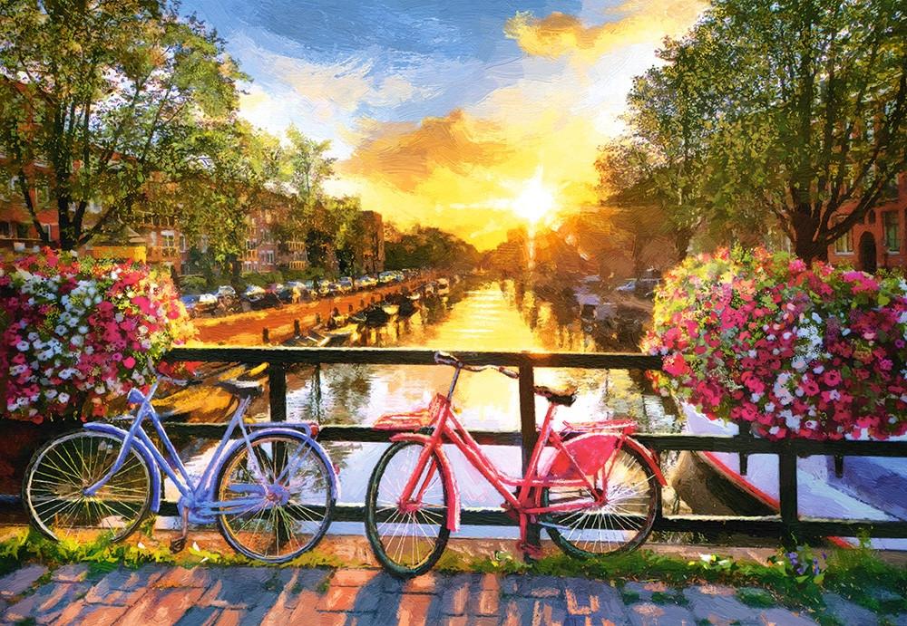 """Пазли Castorland 1000 елементів """"Амстердам. Велосипедна прогулянка"""" (C-104536)"""