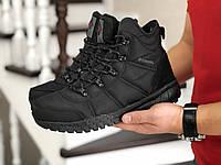 Мужские зимние ботинки на меху в стиле Columbia, кожа, термоплащевка, пена, черные 42 (27,6 см)