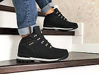 Мужские зимние ботинки на меху в стиле Columbia, кожа, пена, черные 41 (26,5 см)