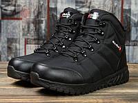 Мужские зимние ботинки на меху в стиле Kajila Fashion Sport, черные 41 (26,7 см)