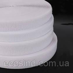 Длина≈23м. Белая 8см. текстильная застёжка(липучка, лента Velcro) для одежды и обуви