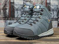 Мужские зимние ботинки на меху в стиле Kajila Fashion Sport, серые 41 (26,7 см)