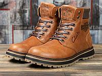 Мужские зимние ботинки на меху в стиле Clarks Extreme Comfort, натуральная кожа, рыжие*** 43 (28 см)