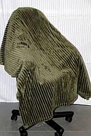 Полуторное бамбуковое покрывало Fashion оливковое