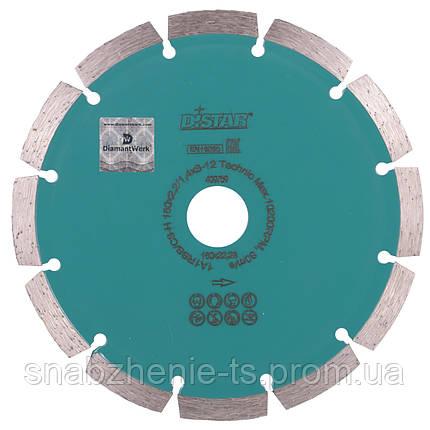 Диск алмазный отрезной сегментный DISTAR HIT Technic 180 x 2,4/1,8 x 8 x 22,23-14, фото 2