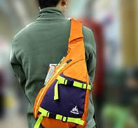 Рюкзак 9 л Onepolar 2007 оранжевый через плечо.