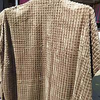 Полуторное бамбуковое покрывало Fashion капучино