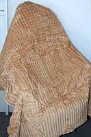 Полуторна бамбукове покривало бежевого окрасу