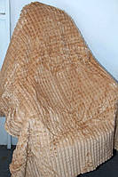 Покрывало бамбуковое Евро размера бежевого окраса