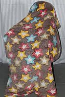 Полуторное махровое покрывало Fashion звёздочки