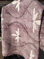 Двоспальне махрове покривало Fashion біла квітка