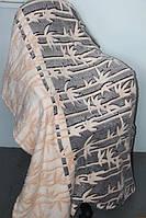 Покрывало махровое Евро размера Fashion тростник