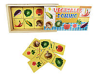 Деревянная игрушка Домино MD 2198-6 (Овощи)