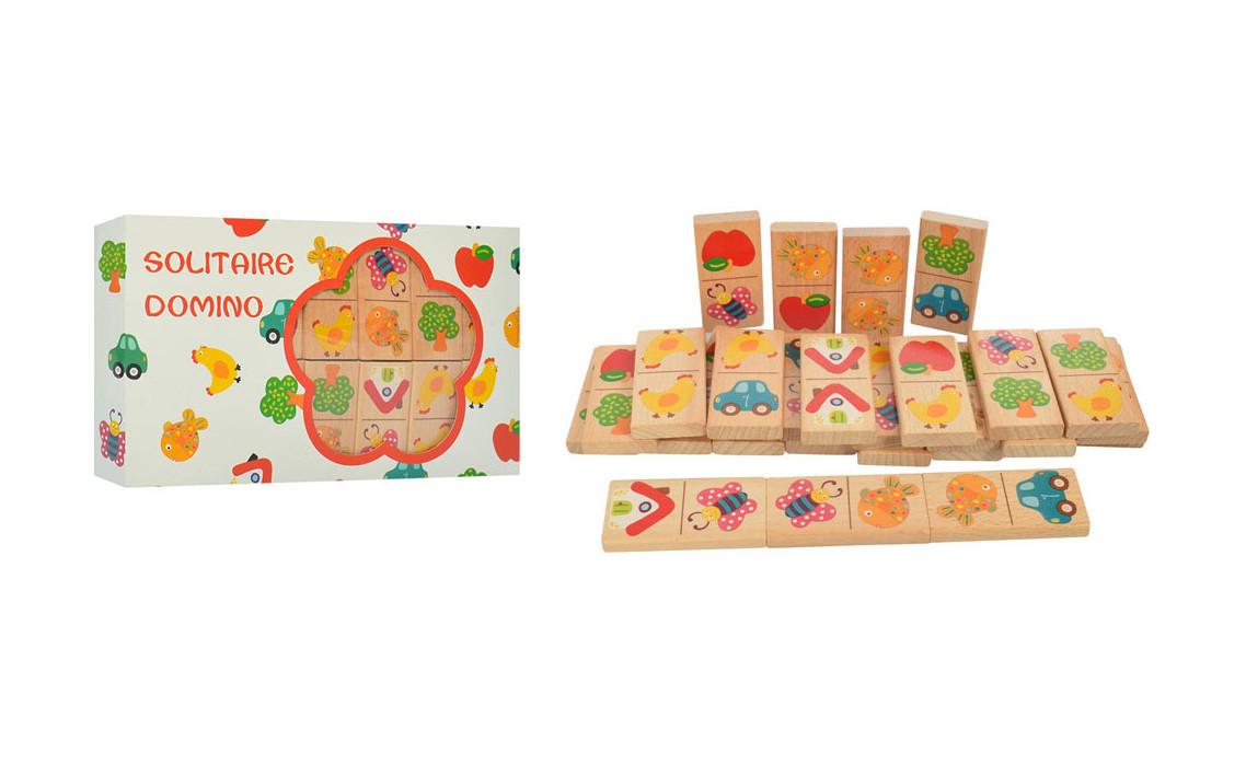 Деревянная игрушка Домино MD 2072-2  28дет,