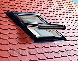 Мансардне вікно Roto (Рото) 65/118 Designo R4 з центральною віссю повороту дерев'яне, купити,ціна Львів