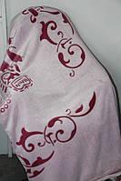 Покривало велюрове Євро розміру Fashion вишневе