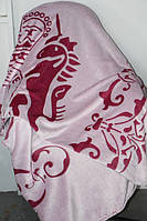 Покривало велюрове Євро розміру Fashion Єдиноріг