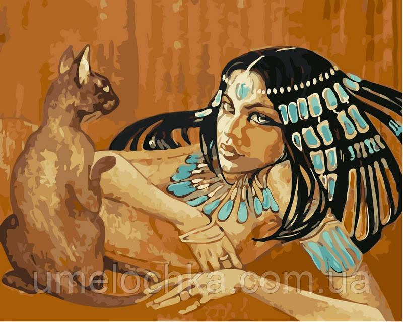 Набор для рисования BabylonЕгиптянка с кошкой40 х 50 см(VP424)