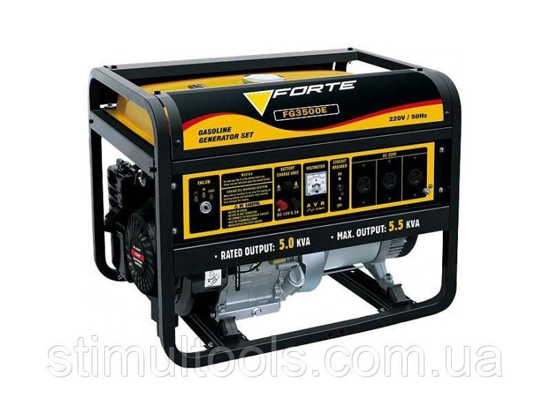 Бензиновый однофазный генератор Forte FG3500