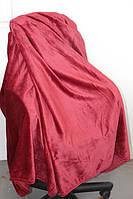 Покрывало велюровое Евро размера Fashion бордовое, фото 1