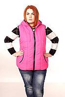 Яркий стеганный жилет женский. 50-62 размер