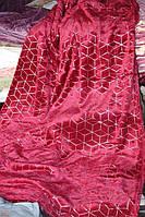 Велюровое полуторное покрывало Koloco красное