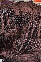 Велюрове полуторна покривало Koloco коричневе