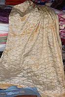 Велюровое двуспальное покрывало Koloco песочное