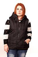 Черный жилет женский стеганный. 50-62 размер