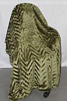 Покривало веобровое Євро розміру Koloco зеленого кольору